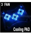 Охладител за лаптоп с 3 вентилатора