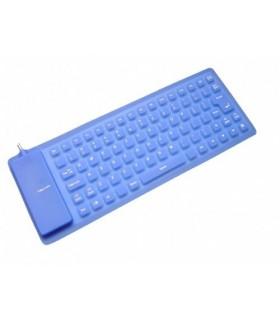 Силиконова Клавиатура Сгъваема Синя