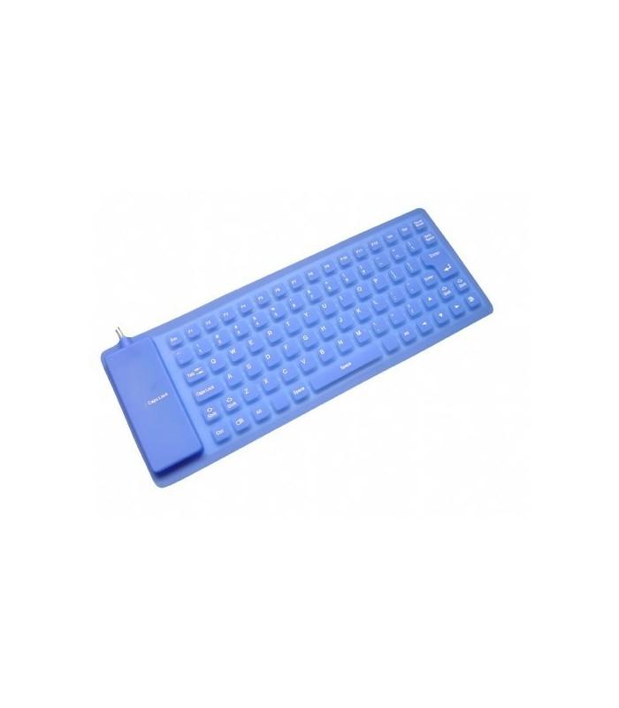 Сгъваема Силиконова Клавиатура Синя
