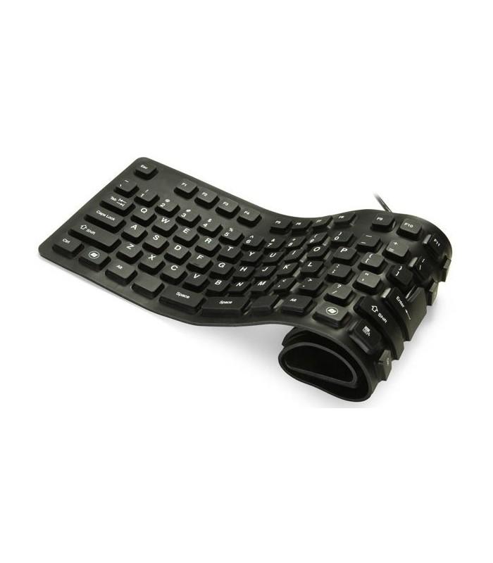Силиконова Клавиатура Сгъваема Черна