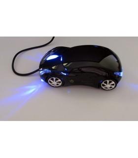 Мишка във форма на кола - черна
