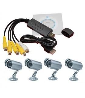 USB DVR Видео рекордер с 4 канална