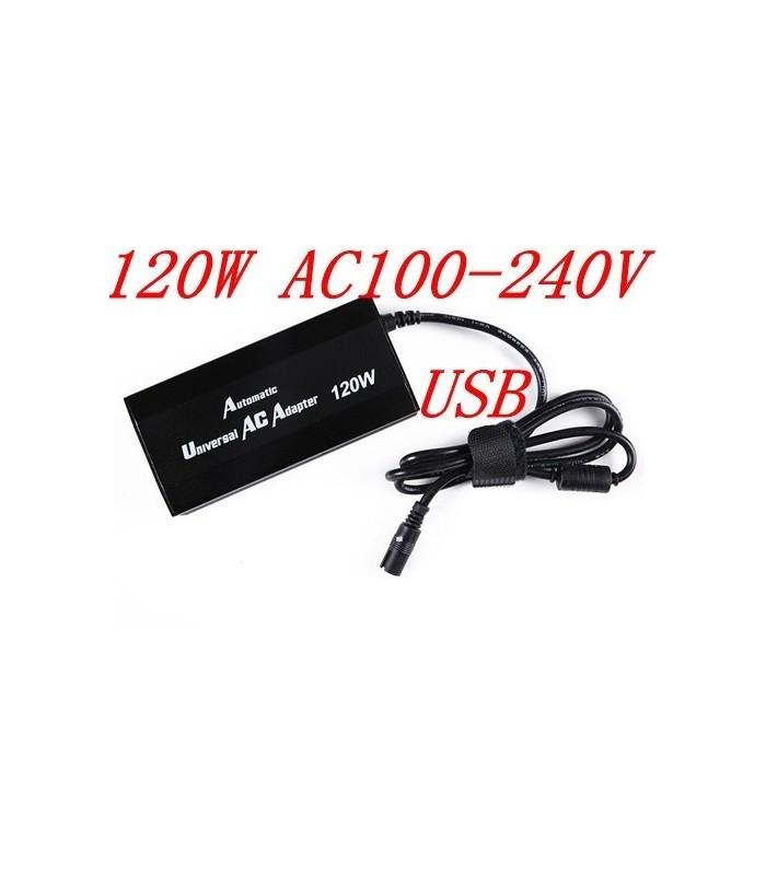 Универсално зарядно за лаптоп 120W + зарядно 12/24V