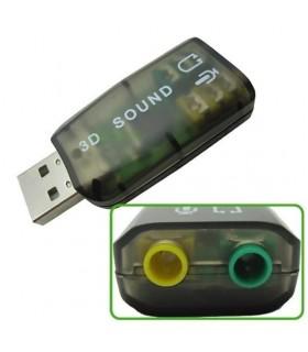 Външна USB 3D Звукова карта 5.1