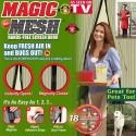 Мрежа за врата с магнити против насекоми