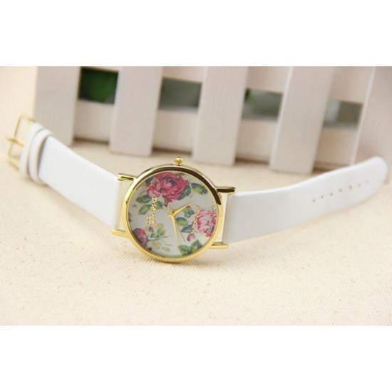Дамски часовник с цветя Geneva