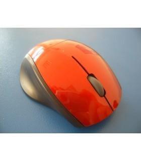 Мини безжична мишка червена