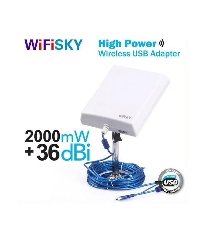 Външна антена за безжичен интернет WiFiSKY 2000mW