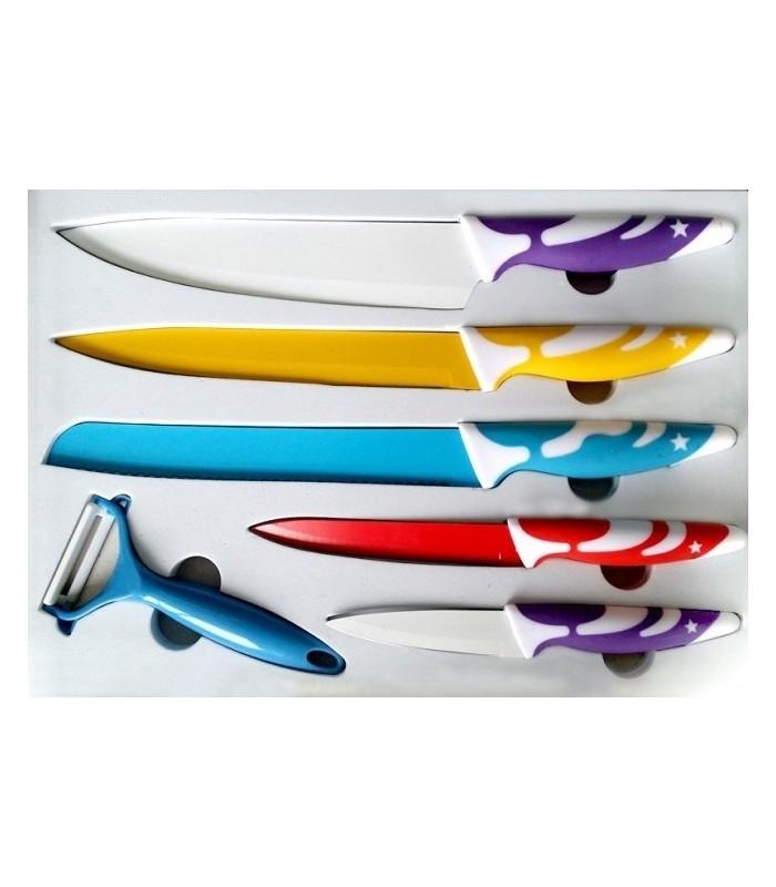 Комплект керамични ножове + белачка