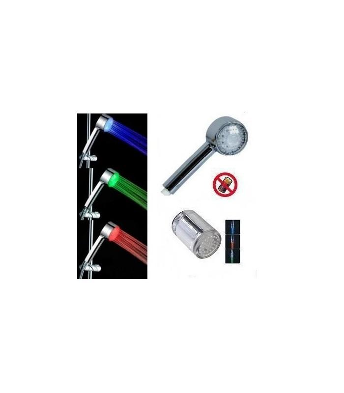 LED комплект за баня ( светещ душ + светещ накрайник за чешма )