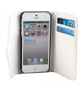 2 в 1 Кожен портфейл + Калъф за Iphone 5 и 5s