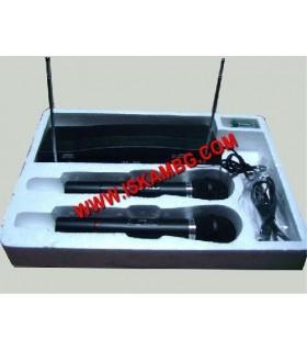 Два безжични микрофона с приемник , WR-306