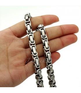 Ланец + Гривна от медицинска стомана код 302
