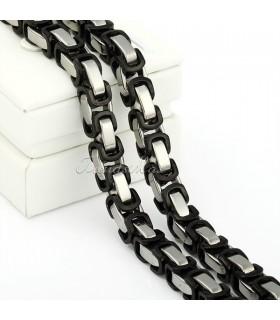 Ланец + Гривна от медицинска стомана код 303