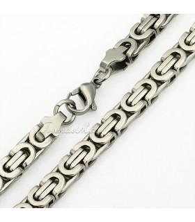 Ланец + Гривна от медицинска стомана код 304