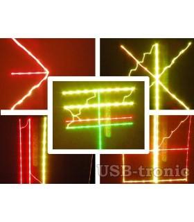 Диско лазер със звуков контрол и страхотни ефекти