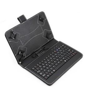 Калъф за таблет с кирилизирана клавиатура с 4 щипки