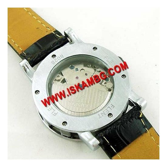 Елегантен часовник Men Black с видим механизъм
