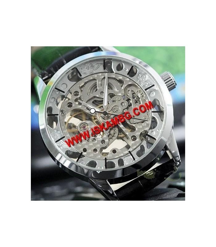 Елегантен часовник Silver Hollow с видим механизъм