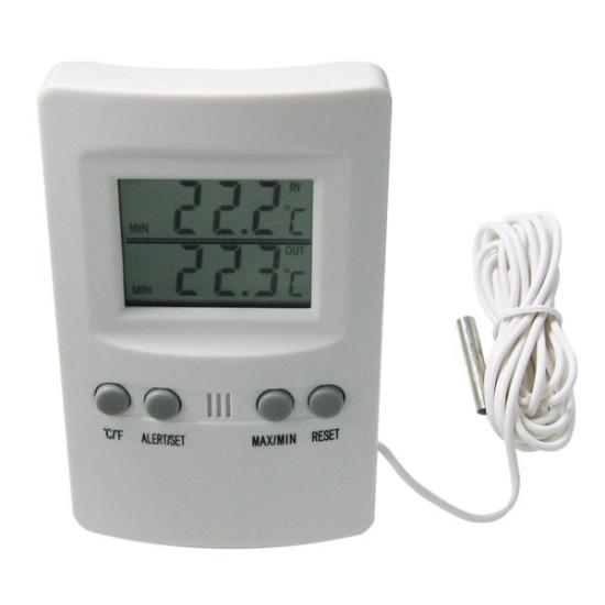 Дигитален термометър външна и вътрешна температура