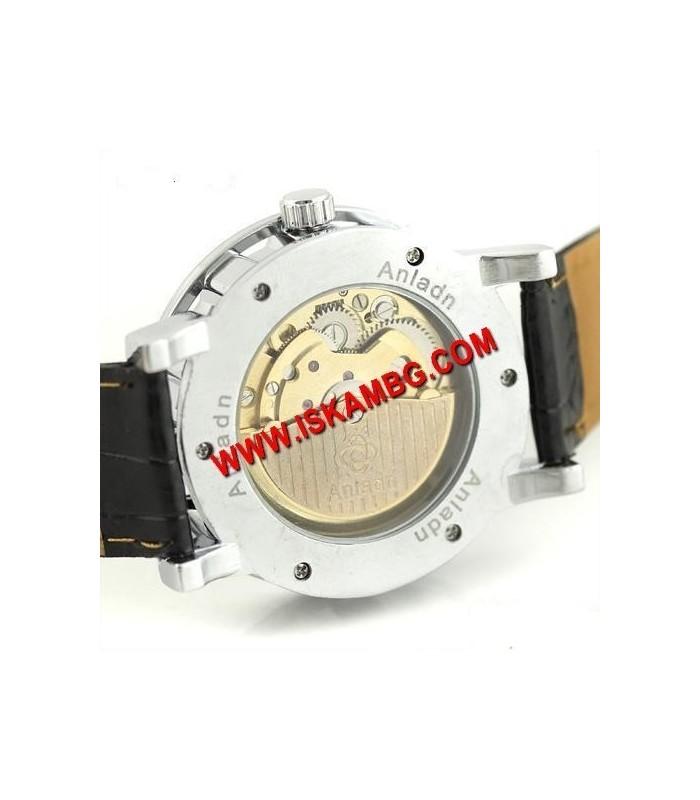 Елегантен часовник BLACK HOLLOW 2 видим механизъм
