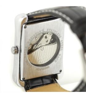 Елегантен часовник WGOLD SILVER с видим механизъм