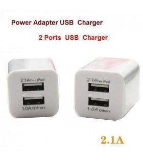 220V към 2х USB Зарядно 2.1/1.0A