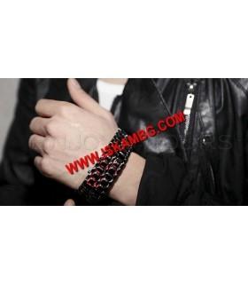 IRON LED часовник LAVA SAMURAI тъмно червен