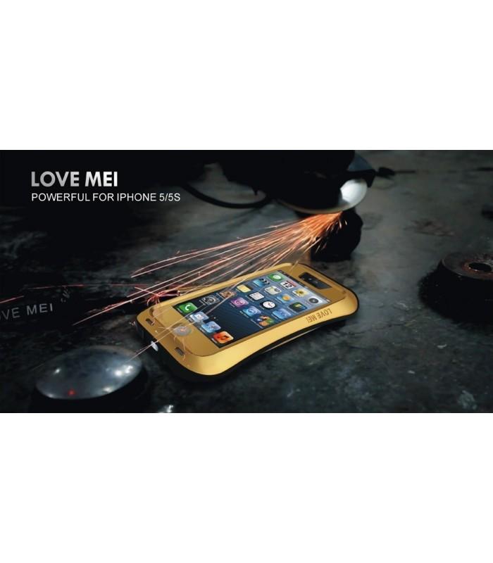 Удароустойчив и водоустойчив калъф LOVE MEI за Iphone 5