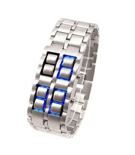 IRON LED часовник LAVA SAMURAI светло син