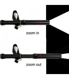 Метална палка за самозащита с LED фенер