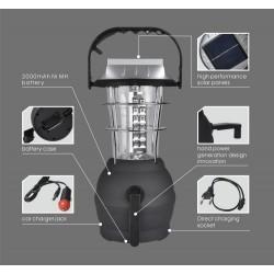 Къмпинг Соларна лампа с динамо