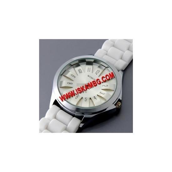 НОВ БЯЛ Дамски Часовник sn-31