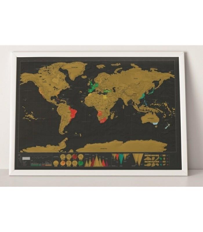 Скреч карта на света DELUX