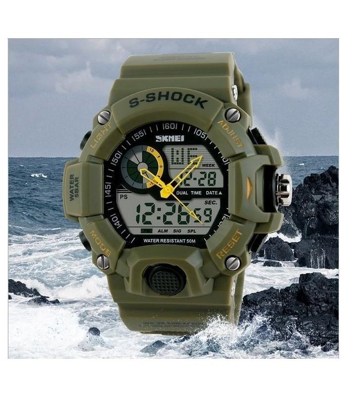50M водоустойчив часовник с 2 часови зони