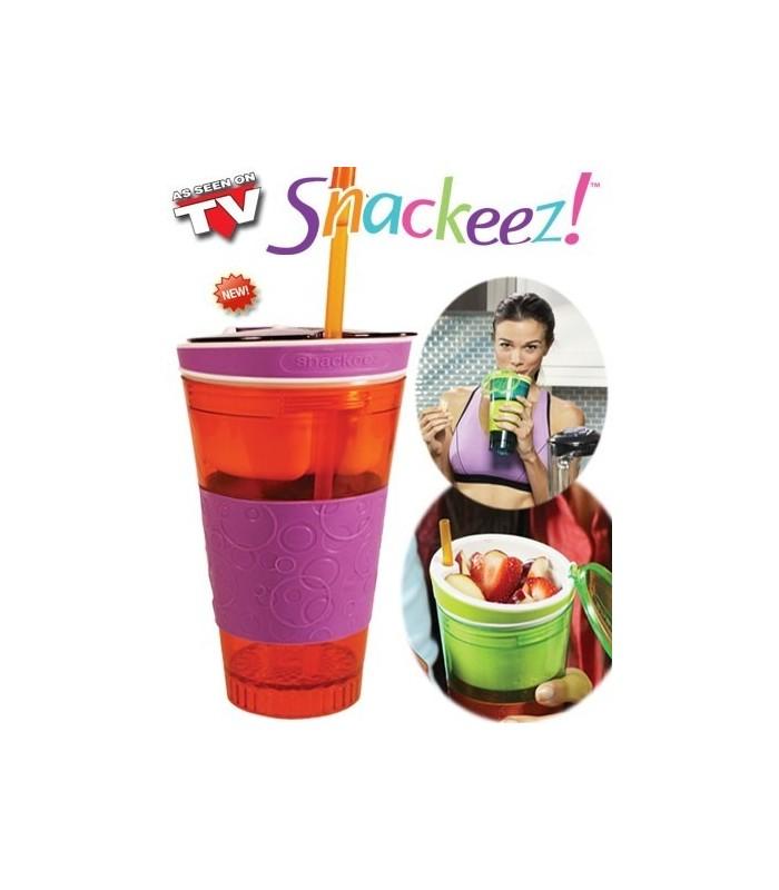 Snackeez 2в1 - Чаша за закуска+чаша за напитки
