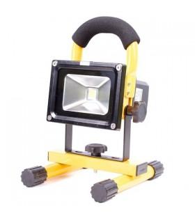 Акумулаторен LED прожектор със стойка 12/220v