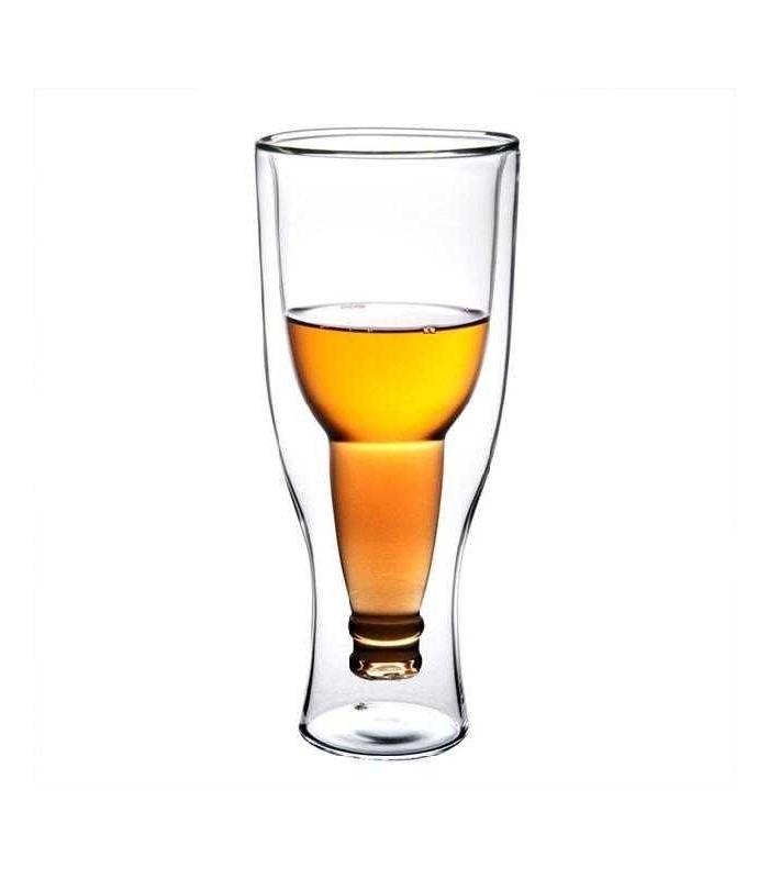 Чаша обърната бирена бутилка