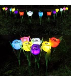 Градинска соларна лампа лале