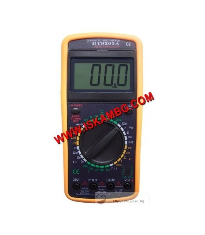 Измерателен уред DT9205A МУЛТИЦЕТ мултиметър