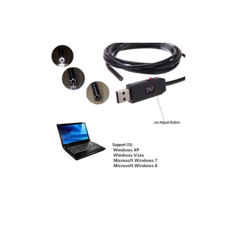 USB Ендоскоп 2м. - водоустойчив