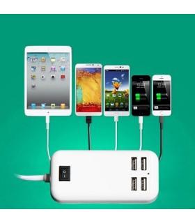 3А 15W 4-Port USB зарядно на 220V