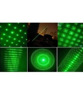 Лазер зелен мощност 200mw с 5 приставки