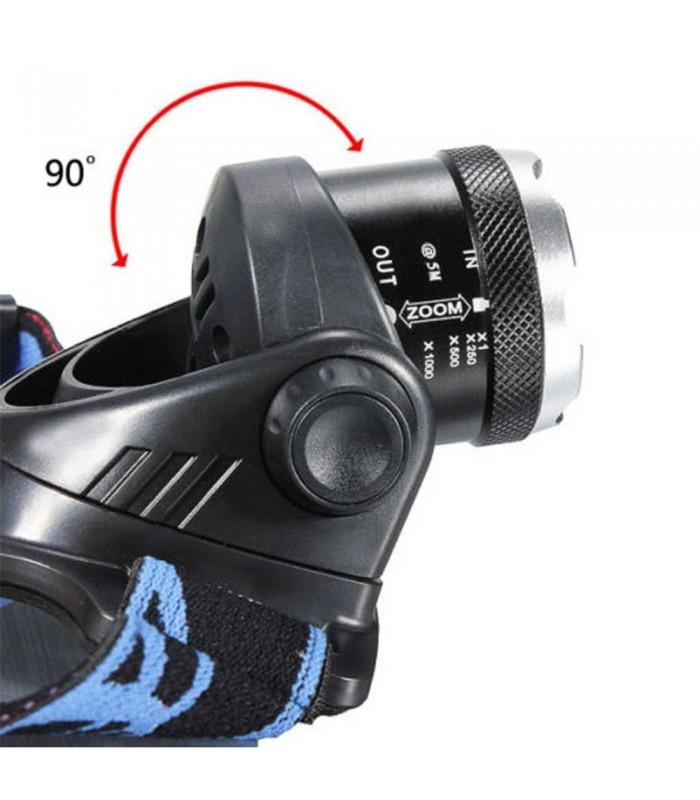 Челник с регулируем фокус XM-L T6 1200LM
