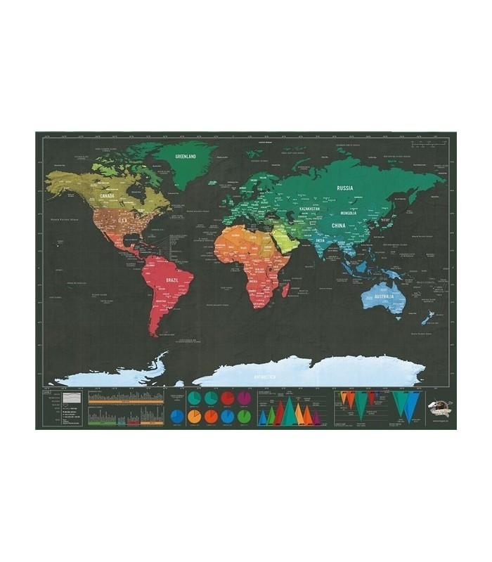 Мини карта на света за изтриване DELUXE