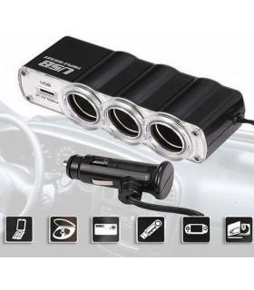 Разклонител за запалка на кола + USB