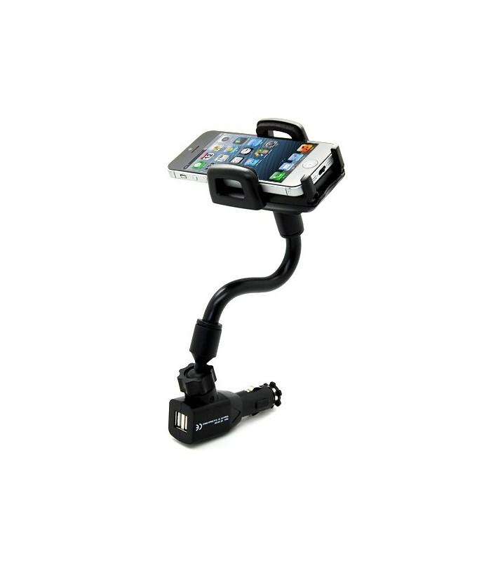 Стойка за телефон в автомобилната запалка с 2бр. USB