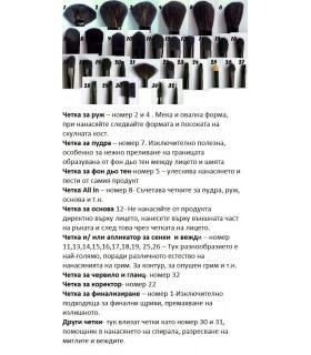 32бр. професионални четки за гримиране
