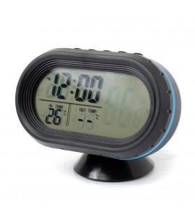 12V-24V волтметър за кола с термометър и часовник
