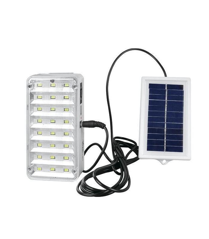 Соларна LED лампа с дистанционно управление и изнесен соларен панел